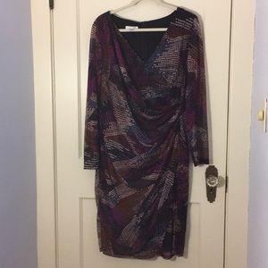 London Times 16W Sheer Dress